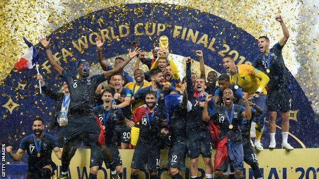 France celebrate World Cup win