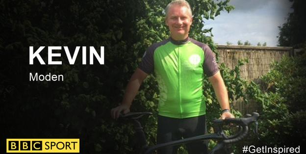 Kevin Moden and his bike ready for RideLondon