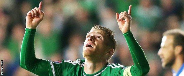 Northern Ireland football captain Steven Davis starred as his country qualified for Euro 2016