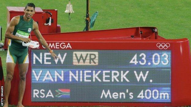 Wayde van Niekerk wants to break the 43 second barrier for 400m