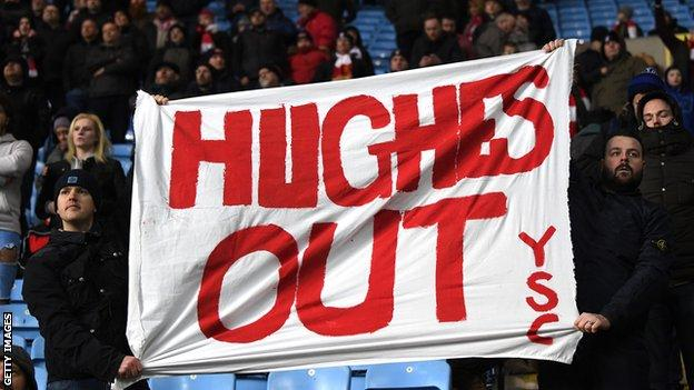 Stoke fans at the Ricoh Arena