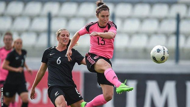 Jane Ross opened the scoring for Scotland