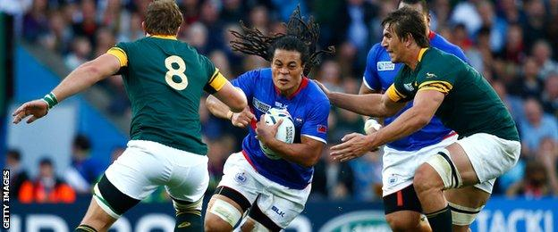 Samoa and South Africa clash