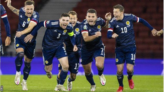 Scotland 0-0 Israel (5-3 pens): Scots one game from Euro 2020 after  shootout - BBC Sport
