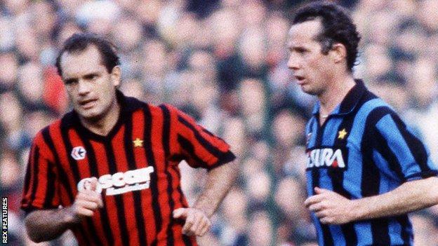 Ray Wilkins and Liam Brady