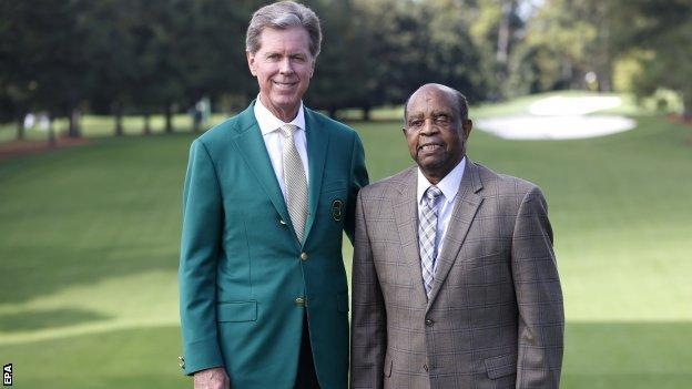Augusta National Golf Club chairman Fred Ridley and Lee Elder