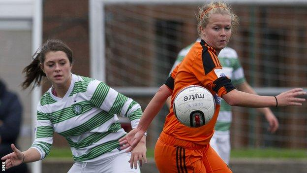 Ruesha Littlejohn playing for Glasgow City in 2013