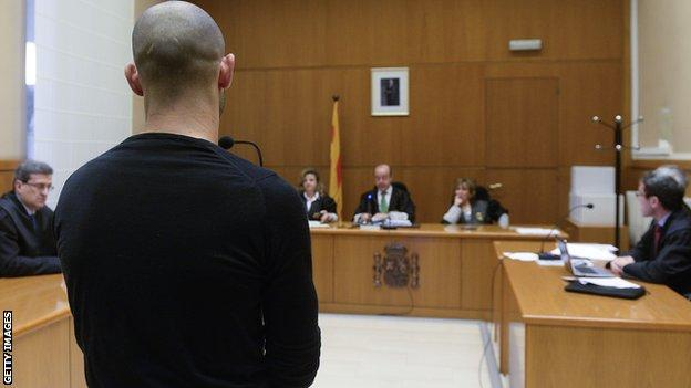 Javier Mascherano in court