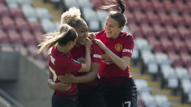 Man Utd Women 7-0 Crystal Palace Ladies: Women's Championship title sealed by win thumbnail