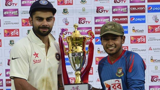 India captain Virat Kohli and Bangladesh skipper Mushfiqur Rahim
