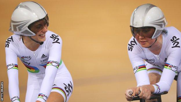 Laura Trott and Katie Archibald