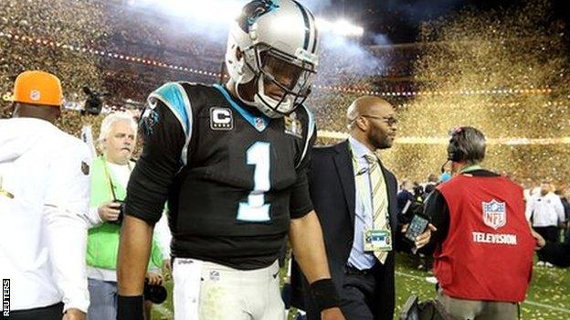 Cam Newton walks off dejected