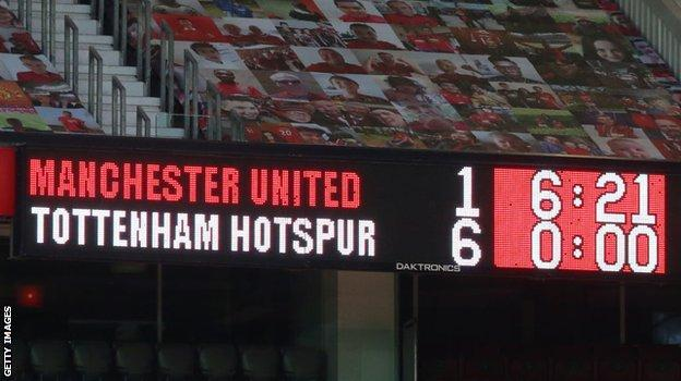 Man Utd lost 6-1 at home to Tottenham in October