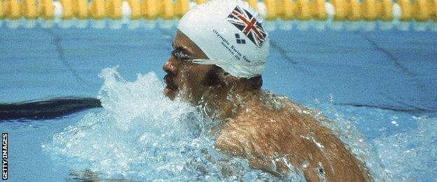 David Wilkie on his way to Olympic gold in 1976