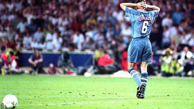 England defender Gareth Southgate