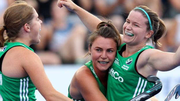 Hockey Women's World Cup: Ireland stun USA in London opener - BBC Sport