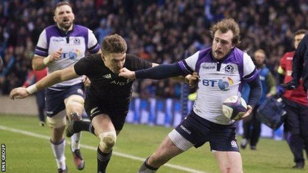 Scotland gave New Zealand a fright at Murrayfield in November 2017