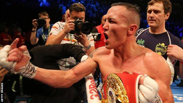 Warrington admitted he felt tense given he hoped to open the door to unification bouts
