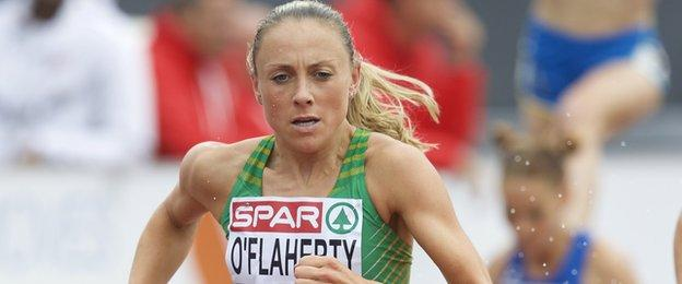 Kerry O'Flaherty dominated the women's 1500m