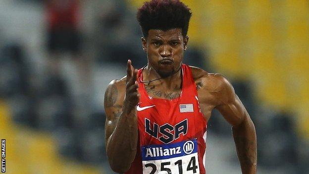 American amputee sprinter Richard Browne