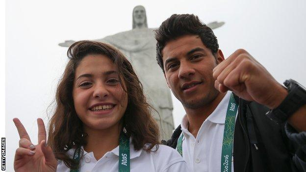 Swimmers Yusra Mardini and Rami Anis are part of the Refugee Olympic Team