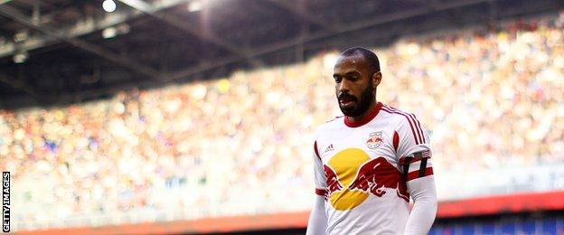 Thierry Henry in action for the New York Red Bulls
