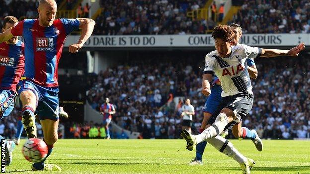 Son Hueng-min scores Tottenham's winning goal against Crystal Palace