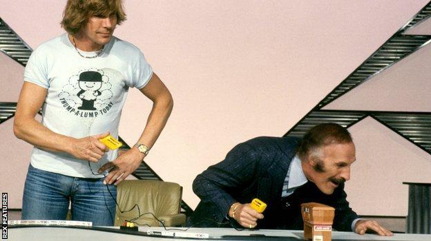 James Hunt and Bruce Forsyth