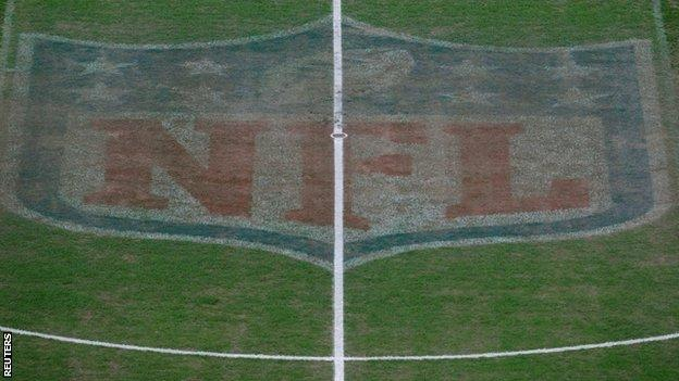 Wembley pitch with the NFL markings clearly visible