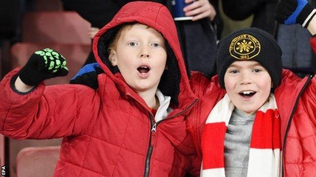 And these young Arsenal fans, who saw their side lift the trophy last season, were pretty pleased with their heroes in a 3-1 victory over Sunderland