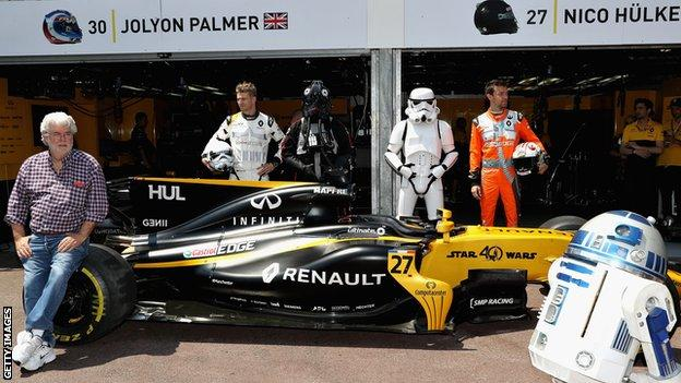 Renault team, Monaco 2017