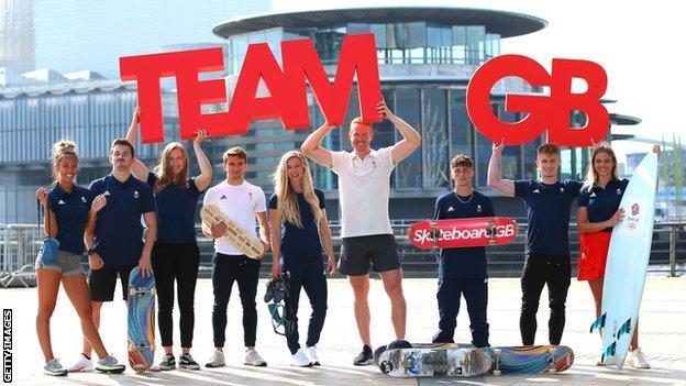Team GB Skateboarding hopefuls