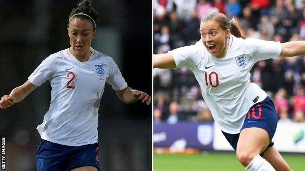 Lucy Bronze and Fran Kirby