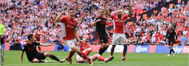 Sunderland conceded a 94th-minute winner against Charlton in May's play-off final