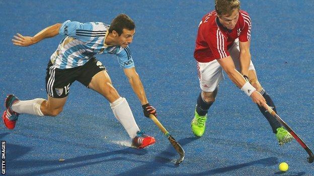 GB v Argentina at the 2016 Hockey World League final