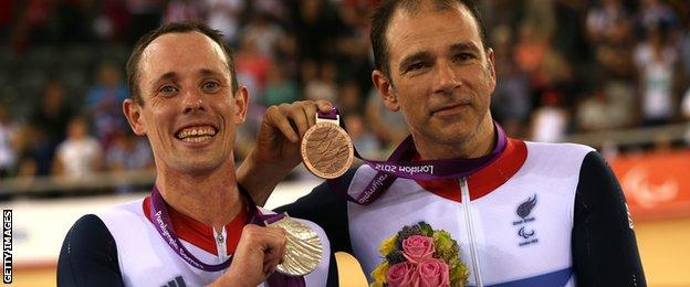 Darren Kenny, right, at the London 2012 Paralympic Games