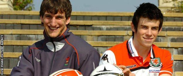 Sam Warburton and Gareth Bale