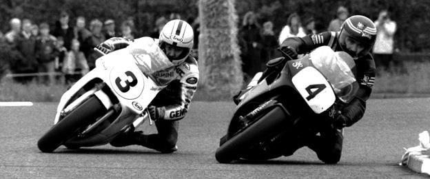 Joey Dunlop and his brother Robert competing at the North West 200 in 1990