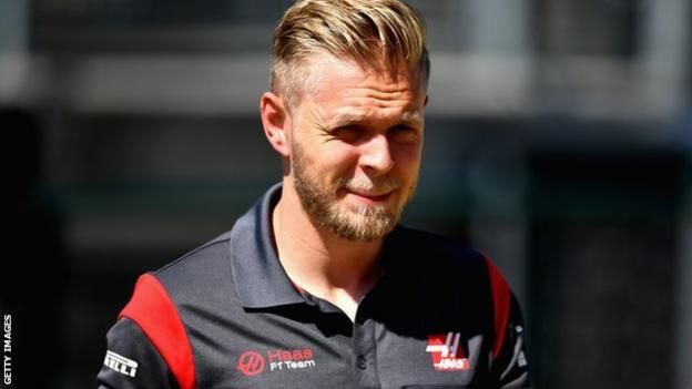 Kevin Magnussen at the Hungarian Grand Prix practise