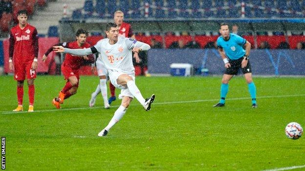 Red Bull Salzburg Bayern Munich Robert Lewandowski Scores Twice In Champions League BBC Sport
