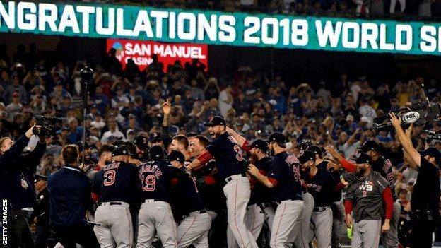 Boston beat the Los Angeles Dodgers to win the 2018 World Series