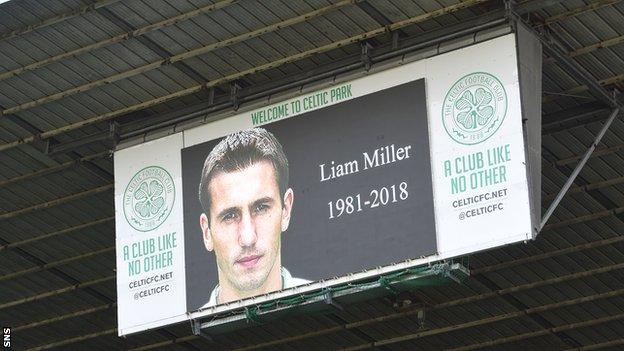 Celtic Park pays tribute to Liam Miller