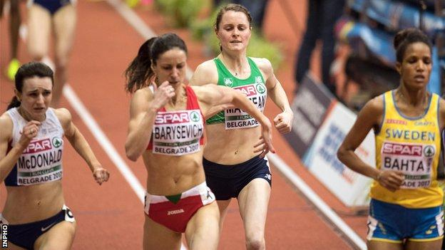 Ciara Mageean finished fourth in her heat won by Eritrean-born Swedish entrant Meraf Bahta