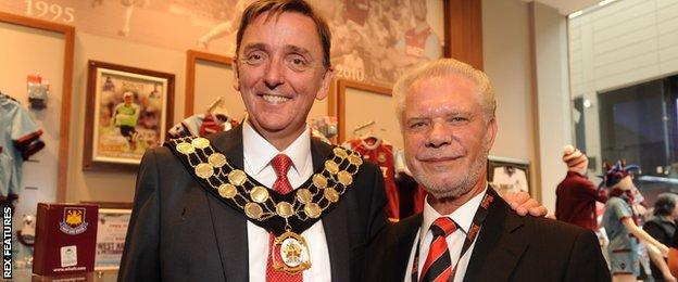 Sir Robin Wales and David Gold