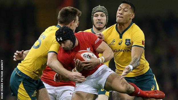 Wales full-back Leigh Halfpenny had an uncharacteristic off-day with the boot against Australia