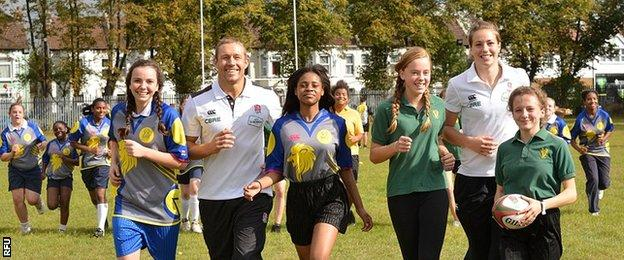Jonny Wilkinson and Emily Scarratt