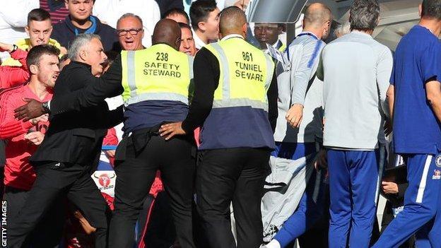 Jose Mourinho and Marco Ianni clash
