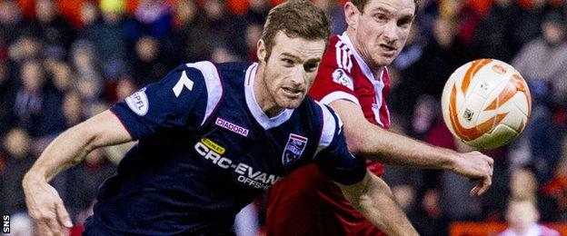 Brian McLean in action for Ross County in the 2013-14 season