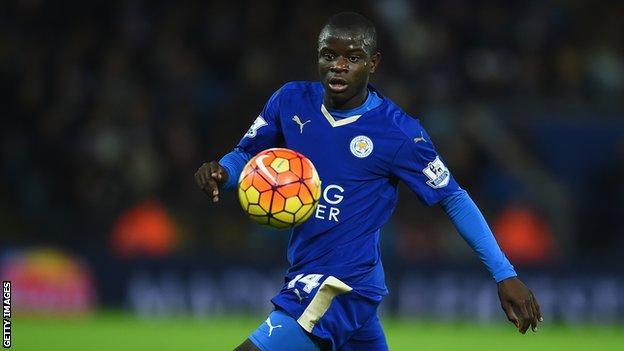 Leicester midfielder N'Golo Kante