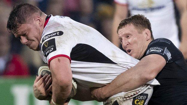 Ross Kane has made 13 appearances for Ulster this season